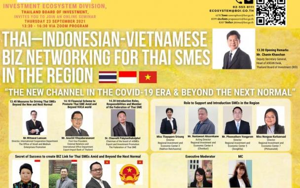 กิจกรรมสร้างเครือข่ายธุรกิจระหว่าง ผู้ประกอบการ SMEs ในภูมิภาคไทยกับหน่วยงานภาครัฐและเอกชน ในอินโดนีเซีย รวมทั้งเวียดนาม